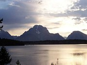 Christine Edwards Prints - Tetons Print by Christine Edwards