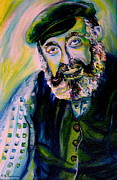Prayer Shawl Paintings - Tevye Fiddler On The Roof by Carole Spandau