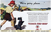 Motor Oil Framed Prints - Texaco Advertisement, 1934 Framed Print by Granger