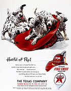 Dalmation Posters - Texaco Advertisement, 1951 Poster by Granger