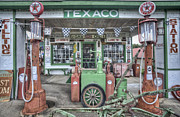 Pumps Prints - Texaco Filling Station Print by Jim Pearson
