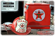 1949 Plymouth Framed Prints - Texaco Fire Chief Framed Print by Steve McKinzie