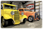 1949 Plymouth Framed Prints - Texaco Garage Framed Print by Steve McKinzie
