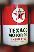 Motor Oil Framed Prints - Texaco Oil Can Framed Print by Scott  Wyatt