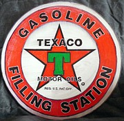 Old Signs Paintings - Texaco Sign by Richard Le Page