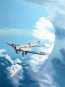 Historic Aviation Prints - Texaco Sky Chief Print by Kenneth Young
