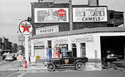 Coca Cola Signs Posters - Texaco Station Poster by Andrew Fare