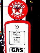 Pop Art Photos - Texaco Vintage Pump  by Funkpix Photo  Hunter