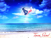 Sports Greeting Cards Prints - Texan Shine Print by CMO Prints