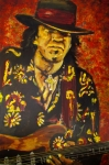 Stevie Ray Vaughan Acrylic Prints - Texas Blues Man- SRV Acrylic Print by Eric Dee