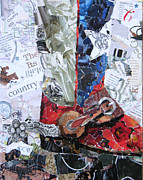 Torn Paper Prints - Texas Boot Print by Suzy Pal Powell