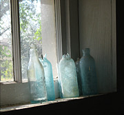 Relic Drawings - Texas Bottles by Michelle Wolff