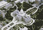 Texas Capitol Color 6 Print by Scott Kelley