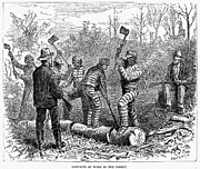 Chain Gang Prints - Texas: Chain Gang, 1874 Print by Granger