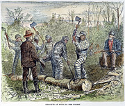 Chain Gang Prints - TEXAS CHAIN GANG, c1874 Print by Granger