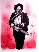Splatter Drawings - Texas Chainsaw Massacre The Final Scene by Sam Hane