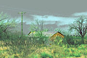 Texas Farm House - Digital Painting Print by Merton Allen