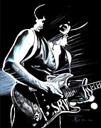 Stevie Ray Vaughan Blues Legend Art - Texas Flood by Al  Molina