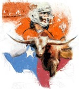 Football Mixed Media - Texas Football by Donna Johnson