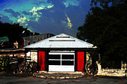 Kelly Mixed Media Metal Prints - Texas Garage Metal Print by Kelly Rader