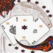 Texas Mixed Media Prints - Texas Hold Em Poker Print by Pepita Selles