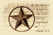 Texas Iconic Star Print by Linda Phelps