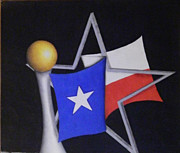 Fanatic Drawings Prints - Texas Print by Jose Benavides