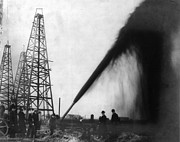 1901 Photo Posters - TEXAS: OIL DERRICK, c1901 Poster by Granger