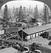 1930 Framed Prints - Texas: Oil Field, 1930 Framed Print by Granger