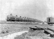 1901 Posters - TEXAS: OIL TANK CARS, c1901 Poster by Granger
