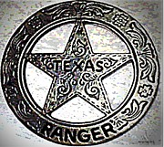 Lawmen Prints - Texas Ranger Badge Print by George Pedro
