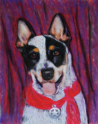 Cattle Dog Prints - Texas Ranger Print by Billie Colson