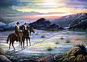 Texas Rangers Paintings - Texas Rangers On His Trail by Donn Kay 