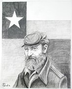 Texas Drawings - Texas Rebel  by Robert Link
