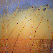 Botanicals Mixed Media Originals - Texas Sand Storm by Dean Uhlinger