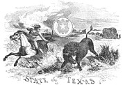 Destiny Metal Prints - Texas Scene, 1855 Metal Print by Granger