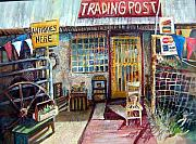 Antiques Paintings - Texas Store Front by Linda Shackelford