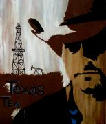 Contemporary Cowboy Paintings - Texas Tea  by Cheri Stripling