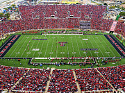 Texas.photo Prints - Texas Tech Jones AT and T Stadium Print by Michael Strong