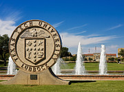 Fountains Photos - Texas Tech University Seal by Texas Tech University