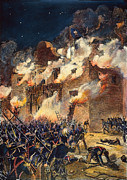 Texas Revolution Prints - Texas: The Alamo, 1836 Print by Granger