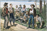 Law Enforcement Prints - TEXAS VIGILANTES, c1881 Print by Granger