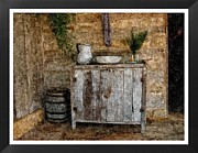 Old Pitcher Prints - Texas Washstand Print by Diana Ost