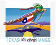 Roadrunner Paintings - Texas Wild Thangs - Roadrunner Poster by Larry G Lemons