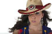 Earrings Photo Originals - TexMex Cowgirl by Andre Babiak