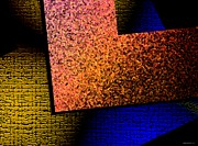 Light Digital Art - Textured Abstract Geometry by Mario  Perez