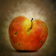 Foodstuffs Posters - Textured Apple Poster by Bernard Jaubert
