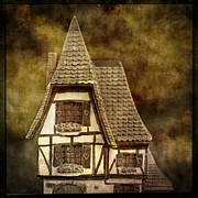 Miniatures Prints - Textured house Print by Bernard Jaubert