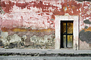 Spanish Prints - Textured Wall in Mexico Print by Carol Leigh