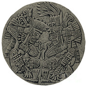 Sacrificial Art - Tezcatlipoca And Huitzilopochtli by Photo Researchers
